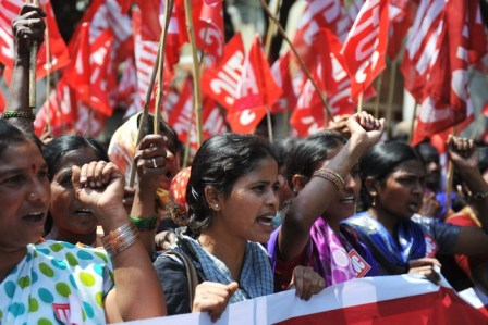 INDIA-ECONOMY-POLITICS-STRIKE