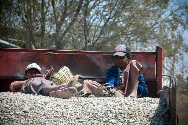 """A little rest"". On the road near Bagan, Myanmar, 2012"